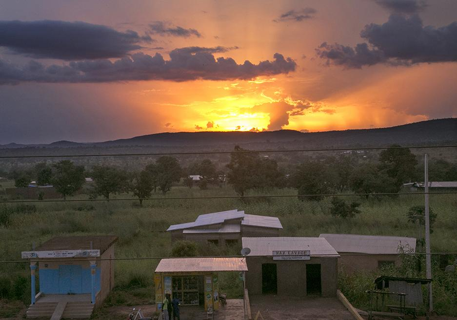 Sunset in Chabicouma, Benin. Photo by Michael Stulman/CRS