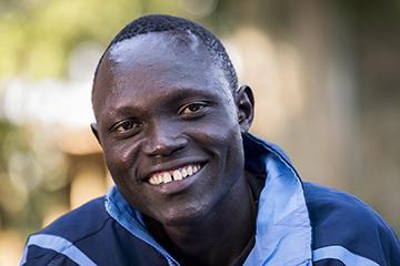 <b>Paulo Amotun Lokoro<br />Sport:</b> Men's Track and Field (1500 m)<br /><b>Native Country:</b> South Sudan<br /><b>Host Country:</b> Kenya<br />Photo by IOC/Claire Thomas