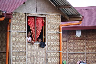 CRS has constructed thousands of homes using local materials and corrugated iron sheets. The A-frame structures are durable and disaster-resistant, keeping families safe.
