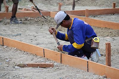 As part of our shelter program, CRS trained carpenters and supplied them with the tools they needed to help communities rebuild their homes.