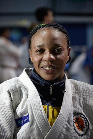 <b>Yolande Bukasa Mabika<br />Sport:</b> Women's Judo (70 kg)<br /><b>Native Country:</b> Democratic Republic of the Congo<br /><b>Host Country:</b> Brazil<br />Photo by IOC/Douglas Engle