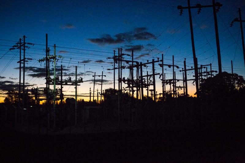 This is a power substation outside of Harare, Zimbabwe. Photo by Elie Gardner for CRS