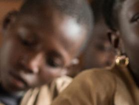 children in classroom in benin