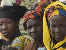 women in CRS savings-led microfinance group