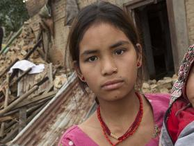 young woman and child in Nepal