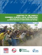 Adapting to the Sahel's Changing Climate