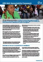CRS Haiti Accountability Framework