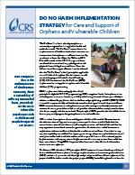 Do No Harm: Implementation Strategy for Care and Support of OVC