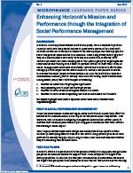 Enhancing Horizonti's Mission and Performance Through the Integration of Social Performance Management