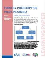 Food by Prescription Pilot in Zambia