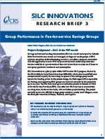 Group Performance in Fee-for-Service Savings Groups