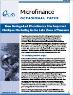 How Savings-led Microfinance has Improved Chickpea Marketing in the Lake Zone of Tanzania