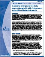Increasing Savings and Solidarity among Households with Orphans and Vulnerable Children in Rwanda