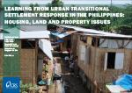 Learning from urban transitional settlement response in the Philippines