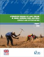 Literature Review of Land Tenure in Niger, Burkina Faso, and Mali