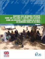 Report on listening sessions in Niger, Burkina Faso and Mali