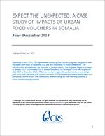A Case Study of Impacts of Urban Food Vouchers in Somalia