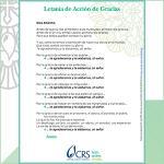 Letanía de Acción de Gracias, a Thanksgiving Prayer